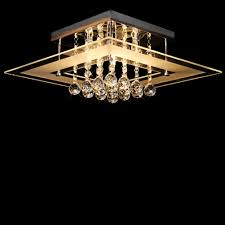 dst modern clear crystal and glass flushmount ceiling light chandelier light chrome finish crystal chandelier for 5 lights mini style flush mount ceiling