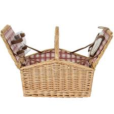 Best Choice Products 2-Person Wicker Double Lid Picnic Basket W/ Flatware,  Glasses