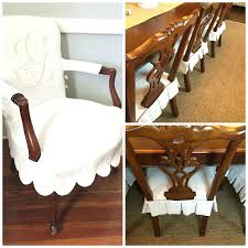 how to cover a dining room chair seat dining chair slipcovers head chairs in monogrammed scalloped slips side chairs in simple pleated seat slips holly how