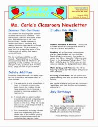 Free Printable Newsletter Templates New Newsletter Templates