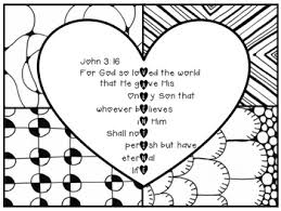 John 316 Valentine Coloring Page Zentangle Printable By Kelly Thompson
