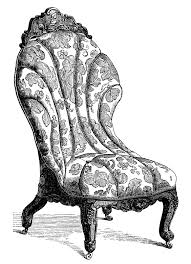 sofa chair clip art. Modren Chair Victorian Furniture Clip Art Vintage Couch Set Living Room Sofa  Engraving Antique Chair Illustration Black And White Art In Sofa Chair Clip Art T