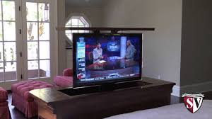 Motorized TV Lift YouTube - Bedroom tv lift cabinet