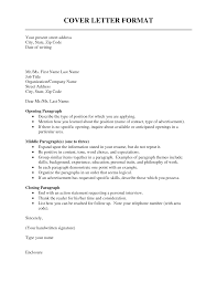 Format Cover Letter Standard Your Name Street Address City Example