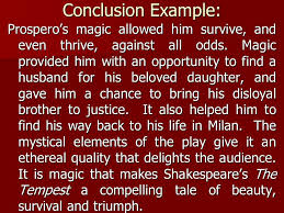 literary essay the tempest writing the conclusion english ppt  4 conclusion
