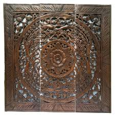 Wood Carved Wall Decor Elegant Wood Carved Wall Plaque Wood Carved Floral Wall Art