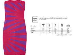 Herve Leger Sizing Guide Lollipuff