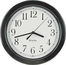 inch simplicity round wall clock black hover to zoom