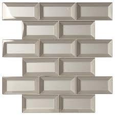 marazzi decor accents silver 12 in x 12 in x 8 mm glass brick