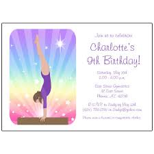 Birthday Invitations Free Download Stunning Gymnastics Birthday Party Invitations Gymnastics Birthday Party