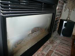 gas fireplace glass fogged exterior