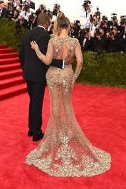 See Through Glass Met Gala 2015 Beyonce Wears Sexy Butt Baring Dress By Riccardo