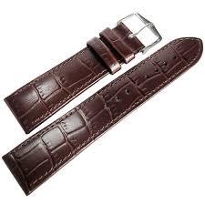 22mm hirsch louisiana brown alligator grn leather watch band strap louisiook