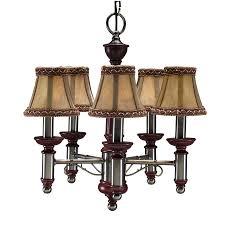 portfolio 16 in 5 light antique nickel chandelier