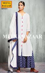 Front Open Salwar Designs Look Smart And Lavish With This Offwhite Salwar Suit