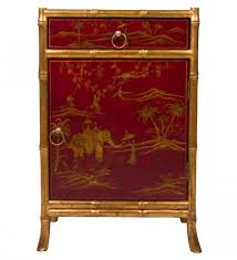 red lacquered furniture. Decorative Red Lacquered Chinese Cabinet With Gold Accents Furniture