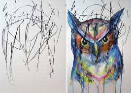 artist turns childrens drawings into paintings 4