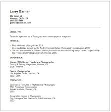 Photography Resume Samples Extraordinary Photography Resume Both Graphic Design And Photography So I Was