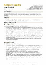 Sales Position Resume Examples Inside Sales Rep Resume Samples Qwikresume