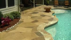 Decorative Concrete Overlay Rubber Ducky A Stamped Decorative Concrete Overlay In Denton
