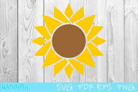 Collection by design bundles | cricut svg files & graphic design resources • last updated 4 graphic design store. Sunflower Cut File Sunflower Shape Graphic By Whistlepig Designs Creative Fabrica