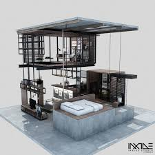 Designer Anway Aljugrey from Inxide Studio has designed a modern, compact  house that can meet all the needs of a person or couple with significantly  less ...