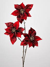 Künstlicher Weihnachtsstern Mit 3 Großen Blüten Bordeaux Rot H Cm Formano W19