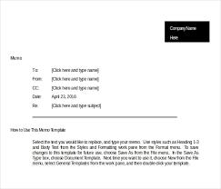 10 Blank Memo Templates Free Sample Example Format