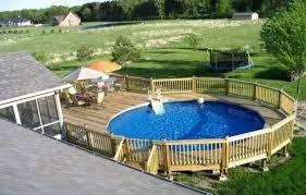 Above Ground Swimming Pool Deck Designs Impressive Ideas