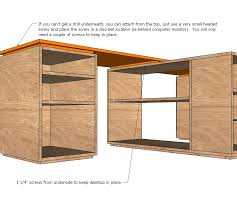office desk plan. Ana White | Eco Modular Office Desktop Made With PureBond Plywood - DIY Projects Desk Plan N