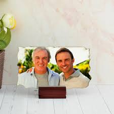 send fathers day personalized rectangle wooden photo frame to india send rakhi to india send fathers day gifts to india