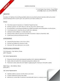 Call Center Resume Skills Mesmerizing Customer Service Call Center Resume Sample Also Customer Service