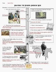 Main Inquiry Documents Analysis Chart Answer Key Spanish American War Document Analysis Timeline