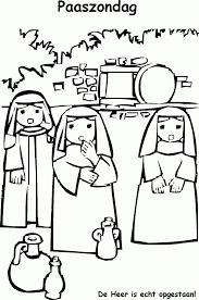 De Heer Is Waarlijk Opgestaan Pasen Pinterest Pasen Kleurplaat