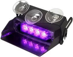 Purple Emergency Vehicle Lights Amazon Com Lumax Flash Dash Vehicle Emergency Led Light
