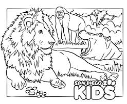 It's important to polish coloring skills in kids which requires a plenty of patience initially. Coloring Page Lion And Friends San Diego Zoo Kids
