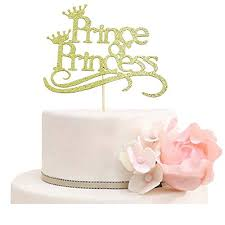 Prince Or Princess Cake Topper Gender Reveal Cake Toppers Boys