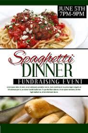 520 Spaghetti Dinner Fundraiser Customizable Design