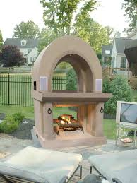 diy outdoor fireplace with chimney