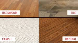 types of flooring for kitchen. Delighful Types 4 Different Types Of Flooring Carpet Bamboo Tile And Hardwood Inside Types Of Flooring For Kitchen S