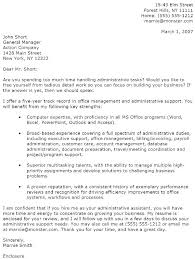 Cover Letter With Resume Sample Administrative Assistant Cover