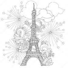 Zentangle Stylizované Eiffelova Věž Vektor Doodle Stock Vektor