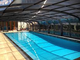 pool enclosure lighting. photo of one tpecu0027s telescopic pool enclosures enclosure lighting
