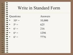what is standard form write in standard form standard form to slope intercept form notes