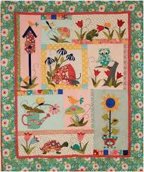 916 best APPLIQUED QUILTS images on Pinterest | Appliques ... & Tuella and Friends Block of the Month Quilt Pattern by Quilter's Paradise  at KayeWood.com Adamdwight.com