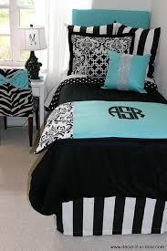 teenage girl bedroom comforter sets tiffany blue black damask designer dorm bedding set dorms 15