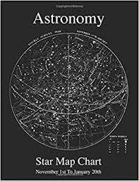 Star Chart For November Astronomy Star Map Chart November 1st To January 20th