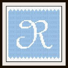 Baby Chart Magnificent Letter R Baby Blanket C48C Graph Written Word Chart
