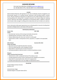 7 Cashier Resume Sample Responsibilities Free Ride Cycles