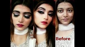 silver glitter glam makeup with kryolan tv paint stick tutorial in urdu hindi